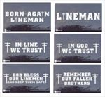 TNT:  Window Decals for Power Linemen - Truck